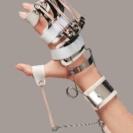 SPLINT - ferula dr. Bunnel per polso e mano (estensione polso, metacarpi e dita-abduzione pollice)